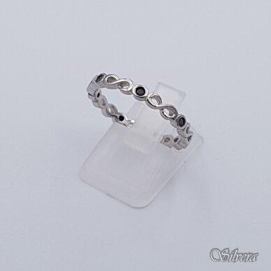 Sidabrinis žiedas su cirkoniais Z209; 18 mm