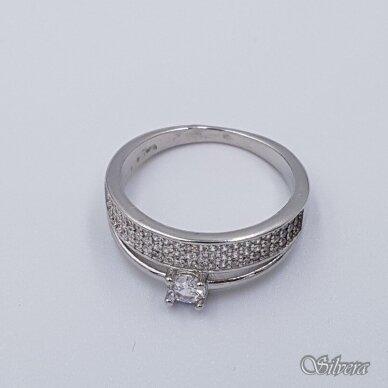Sidabrinis žiedas su cirkoniais Z229; 19,5 mm 2