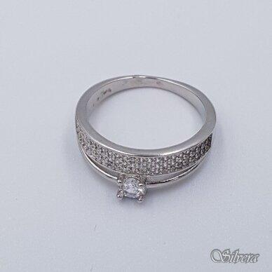 Sidabrinis žiedas su cirkoniais Z229; 20 mm 2