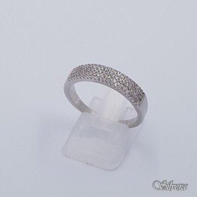 Sidabrinis žiedas su cirkoniais Z230; 19,5 mm