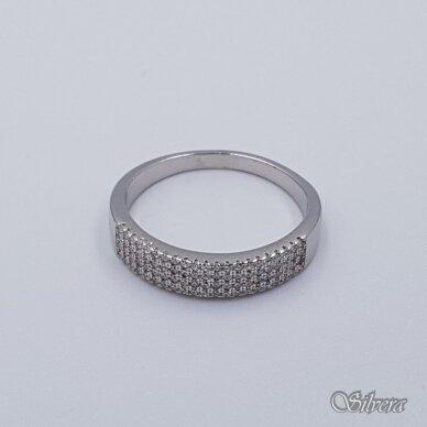 Sidabrinis žiedas su cirkoniais Z230; 19,5 mm 2