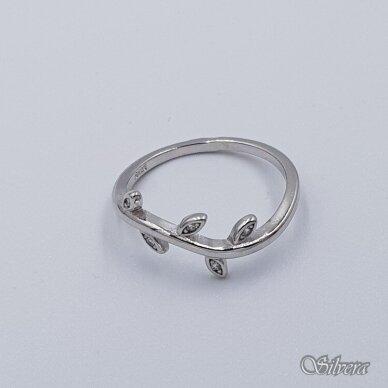 Sidabrinis žiedas su cirkoniais Z235; 18 mm 2