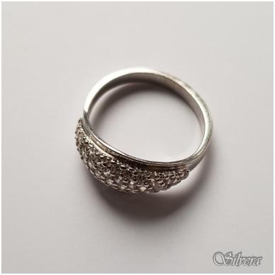 Sidabrinis žiedas su cirkoniu Z030; 16,5 mm 2