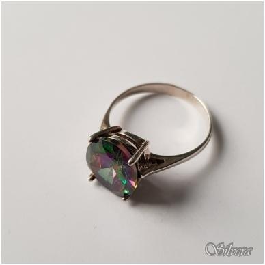 Sidabrinis žiedas su cirkoniu Z057; 18 mm 2