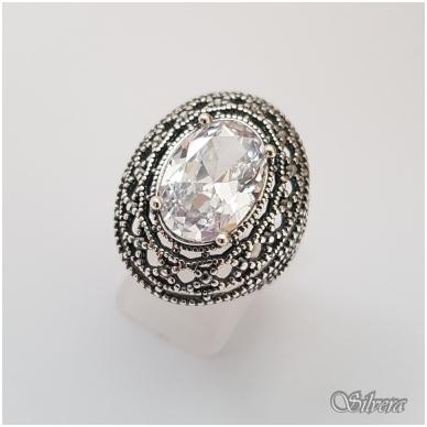 Sidabrinis žiedas su cirkoniu Z087; 18,5 mm