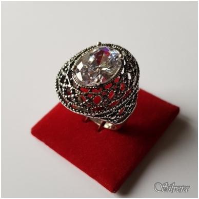 Sidabrinis žiedas su cirkoniu Z087; 18,5 mm 2