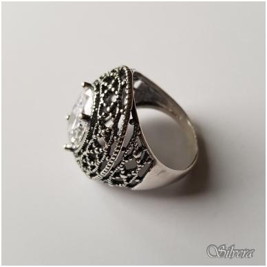 Sidabrinis žiedas su cirkoniu Z087; 18,5 mm 3