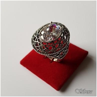 Sidabrinis žiedas su cirkoniu Z087; 20 mm 2
