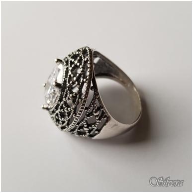 Sidabrinis žiedas su cirkoniu Z087; 20 mm 3