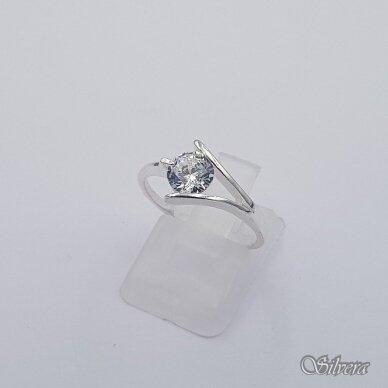 Sidabrinis žiedas su cirkoniu Z1011; 17 mm