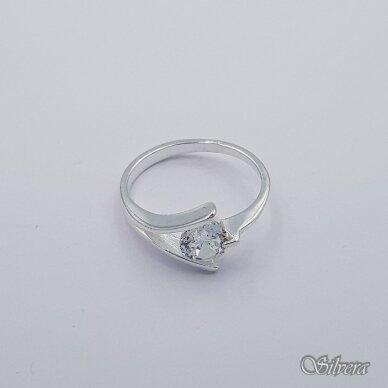 Sidabrinis žiedas su cirkoniu Z1011; 17,5 mm 2