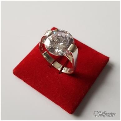 Sidabrinis žiedas su cirkoniu Z1012; 18 mm