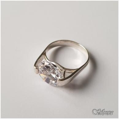 Sidabrinis žiedas su cirkoniu Z1012; 18 mm 2