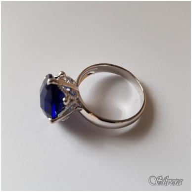 Sidabrinis žiedas su cirkoniu Z1039; 16,5 mm 2