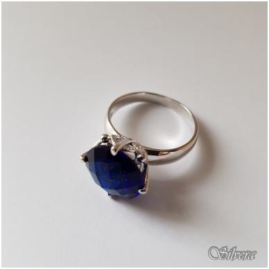 Sidabrinis žiedas su cirkoniu Z1039; 16,5 mm 3