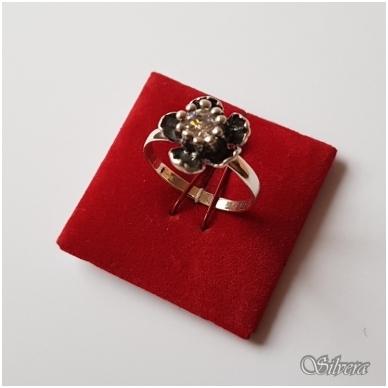 Sidabrinis žiedas su cirkoniu Z1054; 18 mm