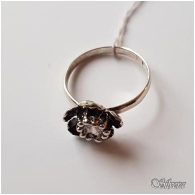 Sidabrinis žiedas su cirkoniu Z1054; 18 mm 2