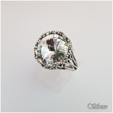 Sidabrinis žiedas su cirkoniu Z1089; 18 mm