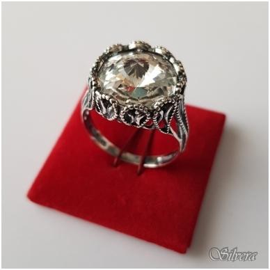 Sidabrinis žiedas su cirkoniu Z1089; 18 mm 3