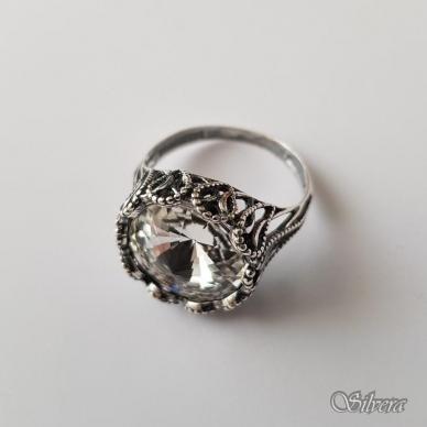 Sidabrinis žiedas su cirkoniu Z1089; 18,5 mm 2