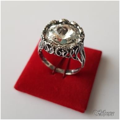 Sidabrinis žiedas su cirkoniu Z1089; 19,5 mm 3