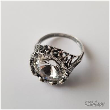 Sidabrinis žiedas su cirkoniu Z1089; 19,5 mm 2