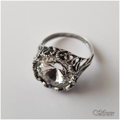 Sidabrinis žiedas su cirkoniu Z1089; 18 mm 2