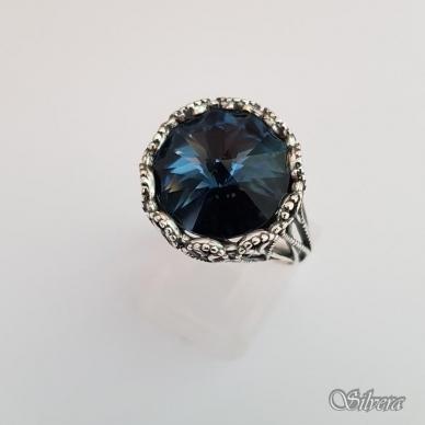Sidabrinis žiedas su cirkoniu Z1090; 19 mm