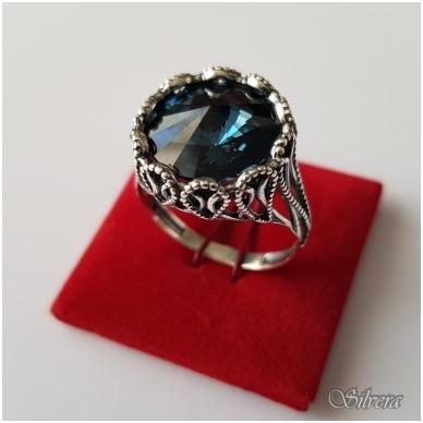 Sidabrinis žiedas su cirkoniu Z1090; 19,5 mm 3