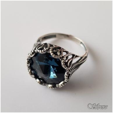 Sidabrinis žiedas su cirkoniu Z1090; 20 mm 2
