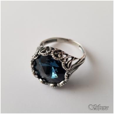 Sidabrinis žiedas su cirkoniu Z1090; 21,5 mm 2