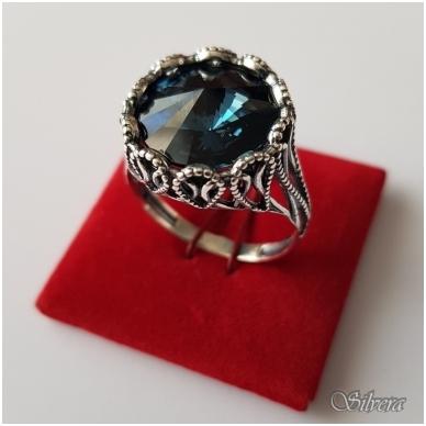 Sidabrinis žiedas su cirkoniu Z1090; 21,5 mm 3
