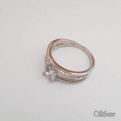 Sidabrinis žiedas su cirkoniu Z110; 17,5 mm