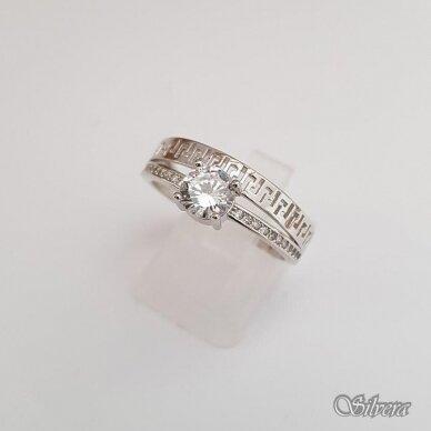 Sidabrinis žiedas su cirkoniu Z110; 17,5 mm 2