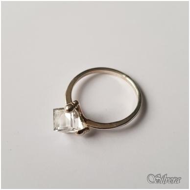Sidabrinis žiedas su cirkoniu Z1107; 17,5 mm 2