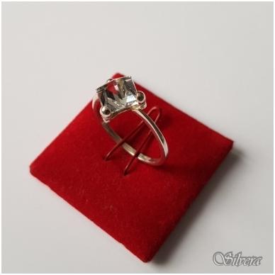 Sidabrinis žiedas su cirkoniu Z1107; 19 mm