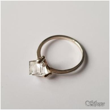 Sidabrinis žiedas su cirkoniu Z1107; 19 mm 2