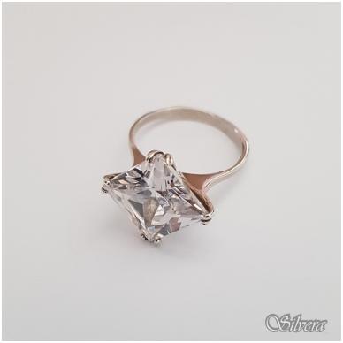 Sidabrinis žiedas su cirkoniu Z114; 18,5 mm 2