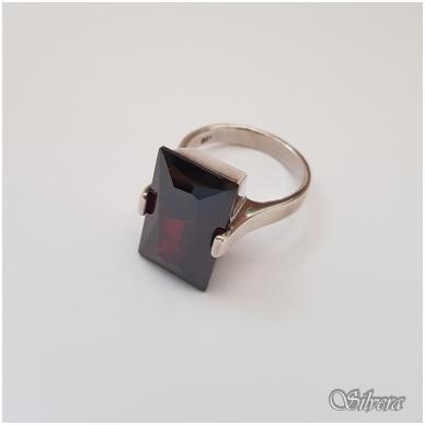 Sidabrinis žiedas su cirkoniu Z124; 18,5 mm 2