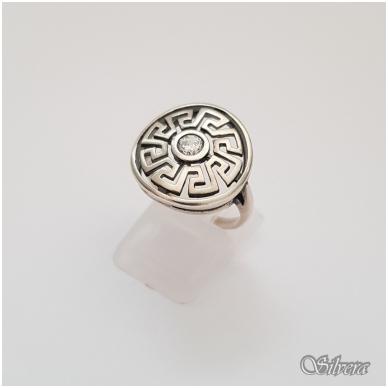 Sidabrinis žiedas su cirkoniu Z127; 17 mm
