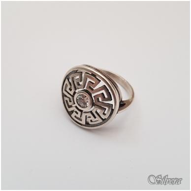 Sidabrinis žiedas su cirkoniu Z127; 17 mm 2