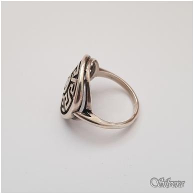 Sidabrinis žiedas su cirkoniu Z127; 17 mm 3