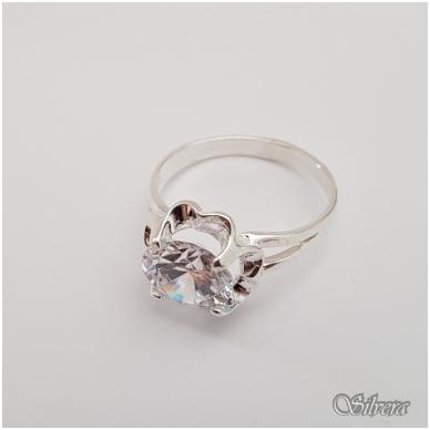 Sidabrinis žiedas su cirkoniu Z1297; 17,5 mm 2