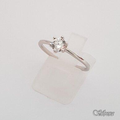 Sidabrinis žiedas su cirkoniu Z132; 17 mm