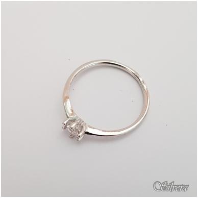 Sidabrinis žiedas su cirkoniu Z132; 17 mm 2