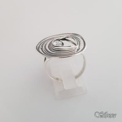 Sidabrinis žiedas su cirkoniu Z1325; 18,5 mm 2