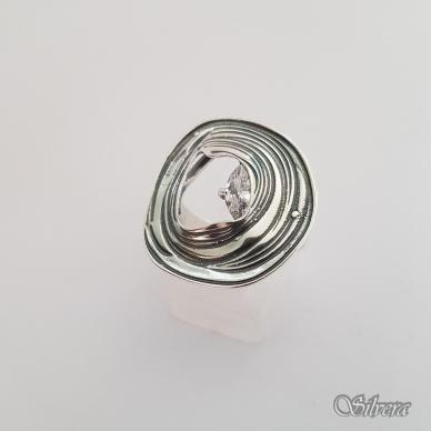 Sidabrinis žiedas su cirkoniu Z1325; 19,5 mm