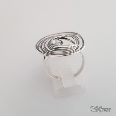 Sidabrinis žiedas su cirkoniu Z1325; 19,5 mm 2