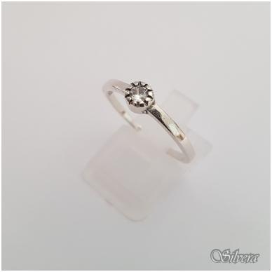 Sidabrinis žiedas su cirkoniu Z148; 16,5 mm