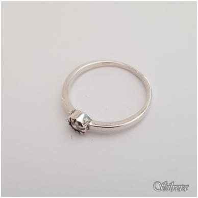 Sidabrinis žiedas su cirkoniu Z148; 16,5 mm 2